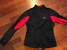 Laufjacke -  Damen - Gore - schwarz rot -  Gr. 34/XS