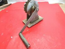 Vintage Marine Sail Boat Trailer rigging Industrial Hand Cable Winch 1960s HD