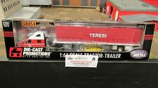 DCP#30261 TERESI TRUCKING PETE 387 SEMI TRUCK FLATBED TRAILER TARP LOAD 1:64/CL