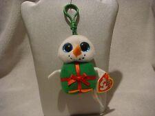 TY Beanie Boos bag clip snowman Shivers (christmas)