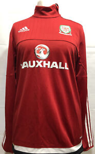 Adidas Climacool Welsh Football Training 1/4 Zip Top Vauxhall Adult Size Medium
