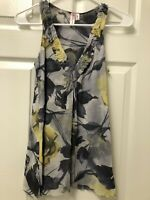 Sweet Pea By Stacy Frati Anthropologie M Floral Gauze Sleeveless Shirt