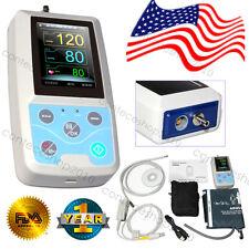 FDA US Multi function ICU Patient Monitor Vital Signs NIBP SPO2 PR, PC Software