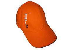 RLX Ralph Lauren Polo Bright Orange Gym Fitted Ball Cap Hat L / XL