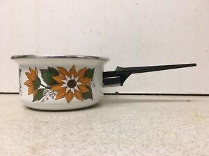 Small Size Vintage JUDGE WARE Floral Enamel 12 cm Saucepan Milk Pan