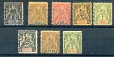 FOURNIER   FORGERIES  -  BENIN --early issues -8 stamps- lot 325