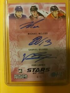 16/17 ITG OHL Stars Of The Game Pink- McLeod/Vilardi/Lodnia /5 RC AUTO #SO01