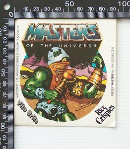 VINTAGE HE-MAN VITA BRITS RICE CRISPIES MASTERS OF THE UNIVERSE PROMO STICKER