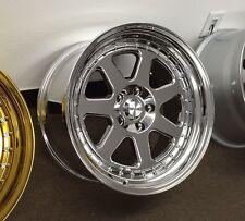18x9.5 Chikara Rims 5x114.3 +20 Vacuum Wheels Fits 350z G35 240sx Rx8 Rx7