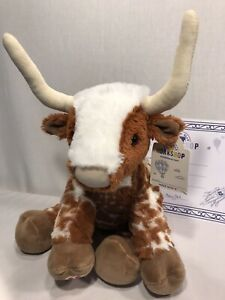 Build-A-Bear Longhorn Plush Stuffed Just Right. Fast Ship