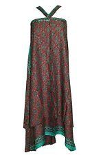 Women's Magic Beach Wrap Skirt Silk Sari Reversible Boho Gypsy Hippy Skirts