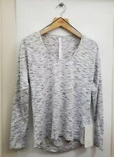 Lululemon Meant To Move LS NWT Size 8 Tiger Stripe White Black TGBW Long Sleeve