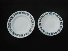STAFFORDSHIRE RUDYARD X6 SAUCERS AND X3 CAKE PLATES