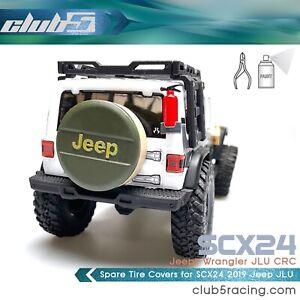 Spare Tire Cover for SCX24 2019 Jeep Wrangler JLU ( White )