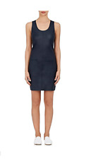 NWT $995 HELMUT LANG Leather Racerback Dress Navy Size XS