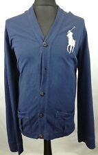 Ralph LAUREN POLO Da Uomo Navy Blue Fine Knit cardigan taglia XL GC Ref:43