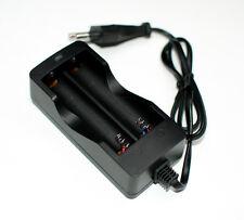 CARGADOR PILAS BATERIAS RECARGABLES Li-ion 2X 18650 con cable DUAL CARGA