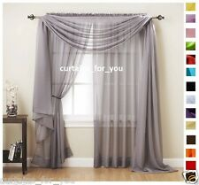 VOILE CURTAINS SCARF PELMET VALANCE 16 COLOURS AMAZING FOR YOU ROMANTIC STYLE!