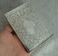 Superb Victorian Hallmarked Silver Playing Card Case Holder