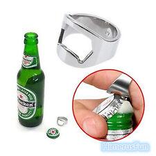 Finger Ring Beer Bottle Opener Party ManDrink Stocking Filler Bar Tool Home