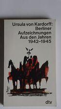 T220-Ursula von Kardorff-Enregistrements de Berlin à partir des années 1942-1945