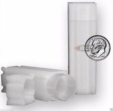 10 Square Coin Tubes Dime Lock Cap CoinSafe Tube Stackable - Silver Mercury