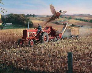 Vintage Farmall Case IH Tractor Art Print Farm Office Wall Decor Charles Freitag
