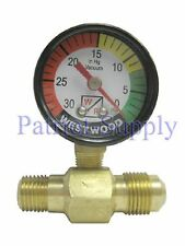 WESTWOOD F100-55 FILTER VACUUM GAUGE WITH FITTING NEW