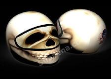 Skull Motorcycle Helmet Cover AND Visor Sticker Decal Skeleton Bone Head Street