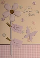 Sister Birthday Card  with Lilac Envelope