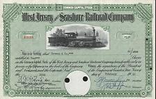 USA WEST JERSEY & SEASHORE RAILROAD COMPANY stock certificate