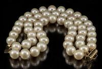 Zuchtperlen Armband 3-reihig Perlen Ø 10,2 - 11,7 mm Schließe Gold 585
