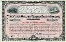 USA NEW YORK ONTARIO & WESTERN RAILWAY COMPANY stock certificate