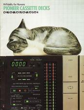 Pioneer Cassette Decks Catalog 1981 CT-9R, CT-8R, CT-7R, CT-6R, CT-5, CT-4