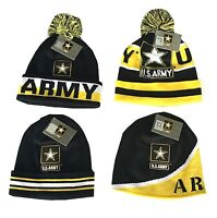 Army Logo Beanie Pom Cap Official Merchandise US Military United States Army