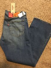 NWT Levis 505 Mens Jeans Regular Fit With Stretch Straight Leg 38X34 MSRP $60
