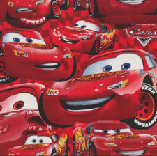 Disney Pixar Cars Lightning McQueen Boys Kids Licensed Quilt Fabric FQ *New*