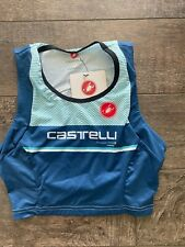 Women's Castelli Free Tri Short Top Brand New Blue Size Small