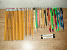 VINTAGE LOT OF 30 USED & UNUSED PENCILS AND MECHANICAL PENCILS: TRUSTY, PENTECH