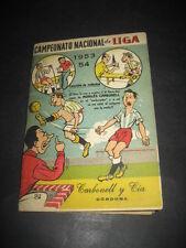 FUTBOL CAMPEONATO NACIONAL LIGA 1953 - 1954 PUBLICIDAD MORILES CARBONELL CORDOBA