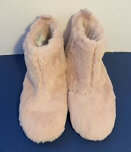 NEW FitFlop Furry Slippers Bootie Mid Rose Dusky Pink UK Size 7.5 - 8 EU42  #4