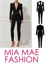 NEW WOMENS HIGH END TWO PIECE BANDAGE TOP AND TROUSERS SUIT STYLE 2017