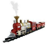 Classic Toy Electric Train Set Real Smoke and Sounds 13 Piece Great Gift NEW