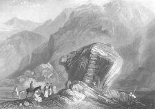 Moses STRUCK Rock Desert MOUNT SINAI Kadesh Barnea ~ 1834 Art Print Engraving