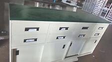"Bank Teller Station Metal Cabinet Drawers 73"" ""Ts1014"""