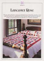 Best Loved Quilt Pattern LANCASTER ROSE Instructions & Uncut Vinyl Templates