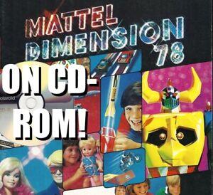 1978 MATTEL AUSTRALIA TOY FAIR CATALOG CD-ROM POPY SHOGUN WARRIORS TARZAN PULSAR