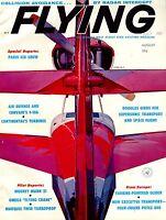 Flying Magazine August 1961 Paris Air Show EX No ML 120716jhe