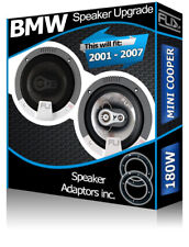 BMW Mini Cooper Front Door Speakers Fli car speakers + speaker adapter 180W