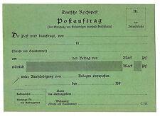 DR, ca. 1890, Formular C114 (Postauftrag), ungebraucht, gute Erhaltung